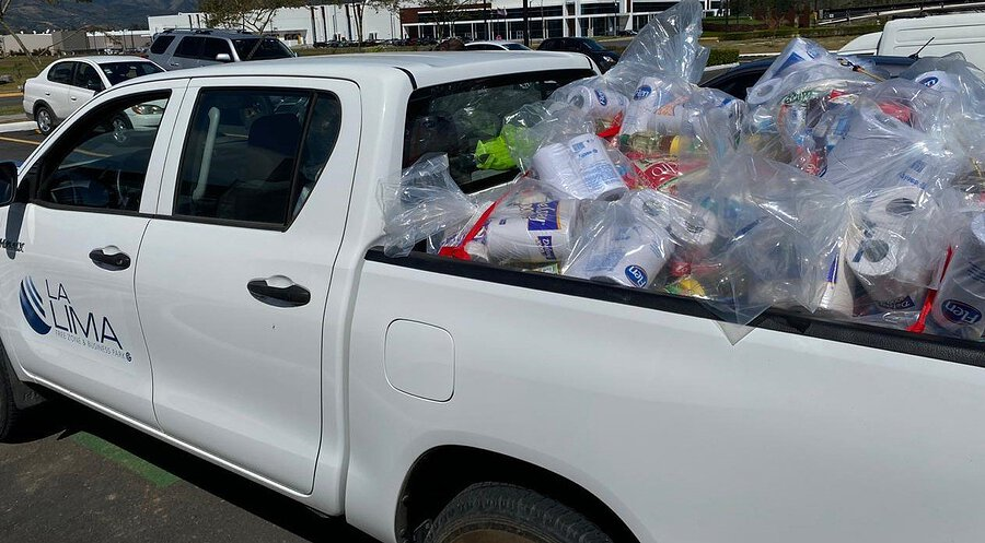 La Lima Free Trade Zone Companies Donate 6,000 Masks and 3,000 Pairs of Gloves to the National Emergency Commission