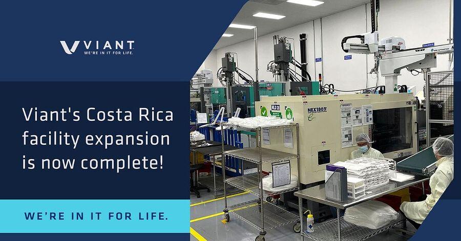 Viant completa expansión de la planta de manufactura en Costa Rica